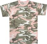 Subdued Pink Camouflage T-Shirt