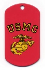 USMC Globe & Anchor Screen Printed Dog Tags