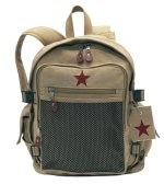Backpack - Vintage Deluxe - Khaki w/Star
