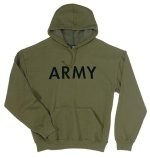 PT Pullover Hooded Sweatshirt - Army - Olive Drab