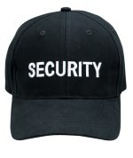Low Profile Cap - Security - Black w/ White