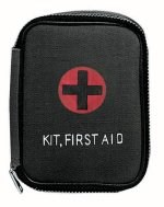 Black Military Zipper First Aid Kit