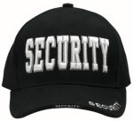 Low Profile Cap - Security Deluxe - Black w/ White