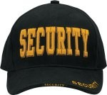 Low Profile Cap - Security Deluxe - Black w/ Gold