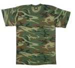 Heavyweight Woodland Camouflage T-Shirt