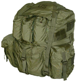 Military Field Pack, Combat, Large, with Metal Frame and Woodland Camo Shoulder Straps