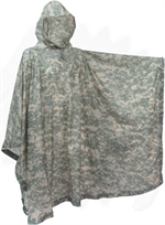 Poncho, Wet Weather, ACU, Universal Camouflage