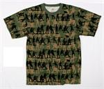 MEN'S OLIVE DRAB SOLDIER CAMO PRINT T-SHIRT