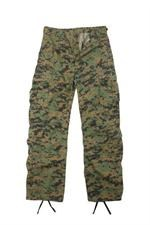 Vintage Paratrooper Fatigue Pants - Camo - Woodland Digital