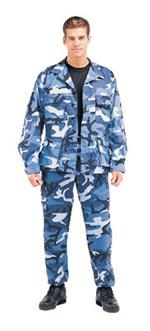 Ultra Force Sky Blue Camo BDU Pants