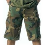 Woodland Camo Xtra Long Fatigue Short