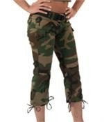 Womens Woodland Camo Capri Pants