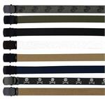 Military Color Web Belts w/Black Buckle 54""