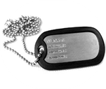 Custom Military Style Dog Tags (Free Shipping)