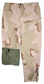 Gor-Tex Outerwear Trousers - 3 Color Desert Camo - Reversible to Night Desert Camo