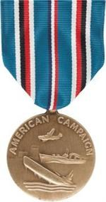 American Campaign Full Size Medal