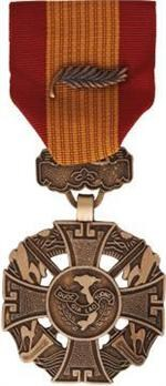 Vietnam Cross Of Gallantry w/Palm Full Size Medal
