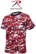 Digital Camo T-Shirt - Red