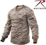Long Sleeve Digital Camo T-Shirts - Desert Digital