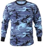 Long Sleeve Camo T-Shirt - Sky Blue