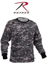 Long Sleeve Digital Camo T-Shirts - Subdued Urban Digital