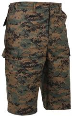 Long Length Camo BDU Short-Woodland Digital Camo