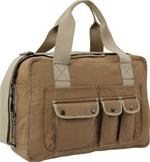Two Tone Shoulder Bag - Mocha/Khaki
