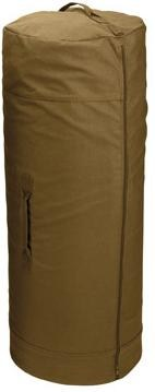 "Duffle Bag - Side Zipper - 25"" x 42"" - Coyote Brown"