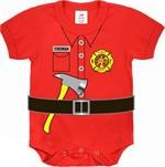 Infant One Piece - Red - Fireman Uniform