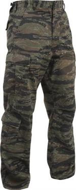 Vintage Paratrooper Fatigue Pants - Camo - Tiger Stripe