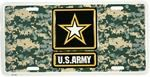 Army Star Logo w/ACU Pattern License Plate